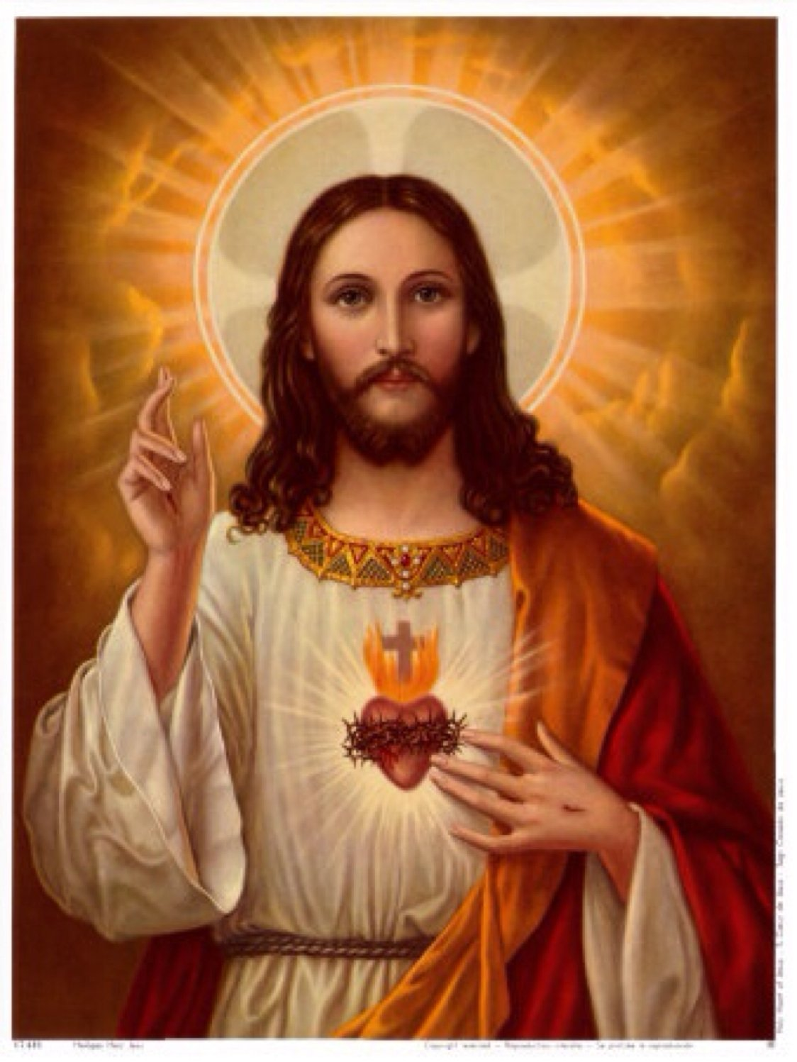 Jesus Christ with Halo Photo Art Christian Religious Photos Artwork 8x10 Perfect Posters and Pics