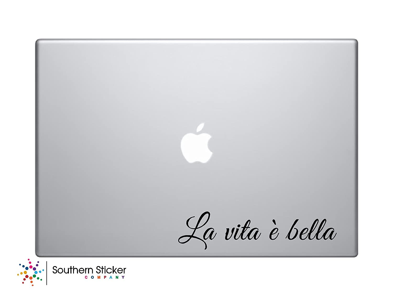 Amazon com la vita e bella italian life is beautiful text black symbol iphone silhouette decal humor macbook symbol iphone disney apple ipad decal skin