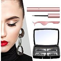 Magnetische Wimpern, Magnetic Eyeliner, 5 Magnete, Falschen Wimpern Magnetischer Natürlicher für Makeup Wimpernverlängerung mit Clip …