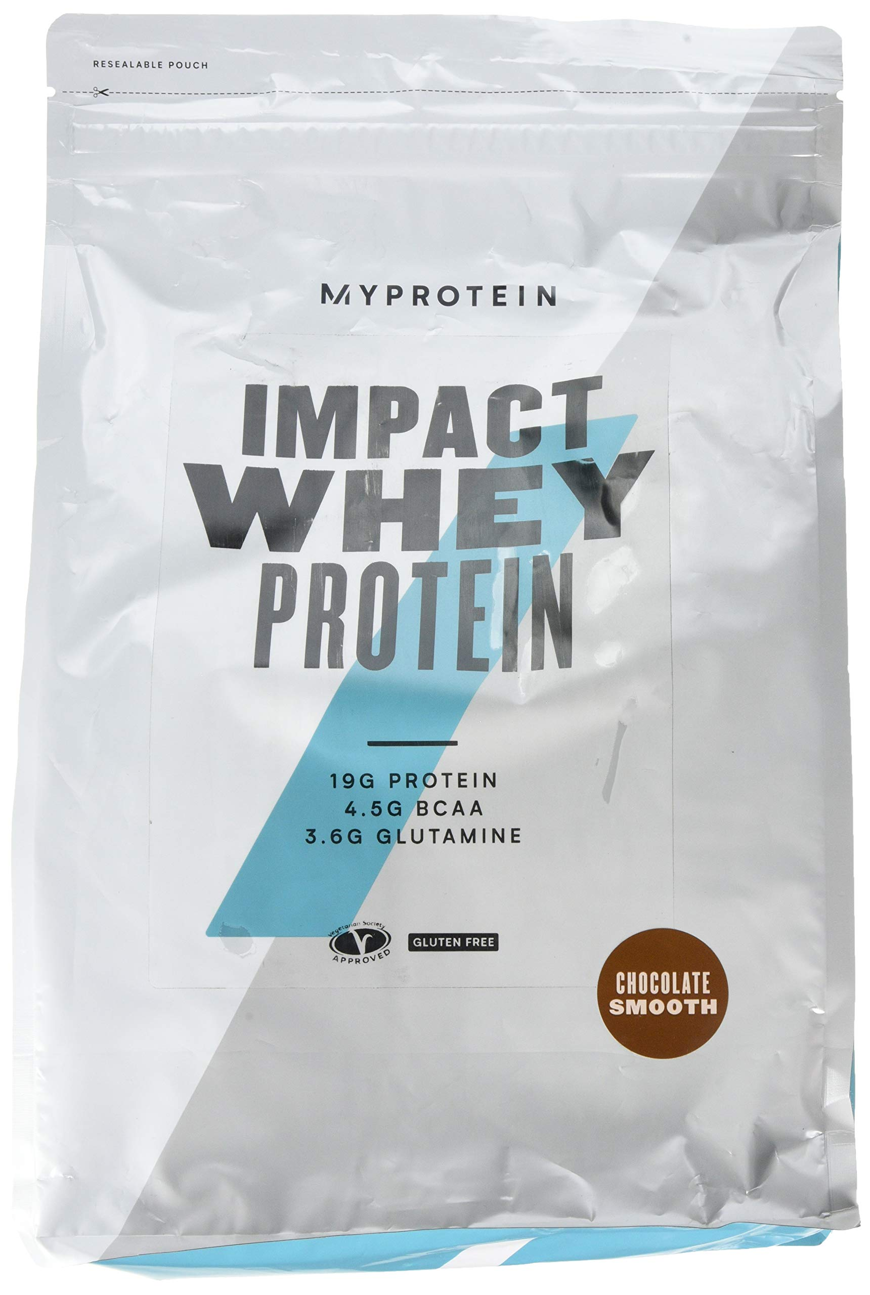 Myprotein Impact Whey Protein Blend, Chocolate Smooth, 5.5 lbs (100 Servings) ...
