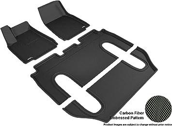 Kagu Rubber 3D MAXpider Complete Set Custom Fit All-Weather Floor Mat for Select Tesla Model X Models Black
