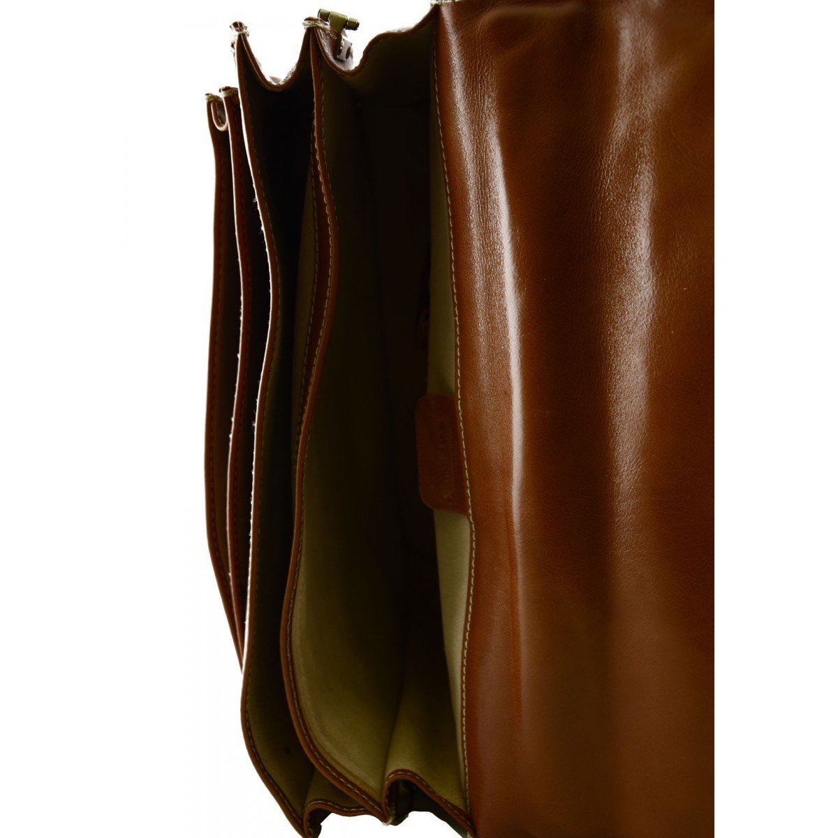 Genuine Leather Business Bag Color Cognac
