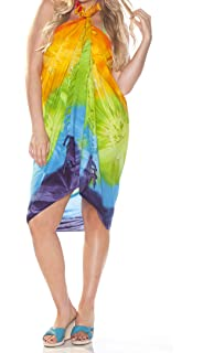 c305789322 1 World Sarongs Womens Tie Dye Swimsuit Cover-Up Sarong in Your Choice of  Color