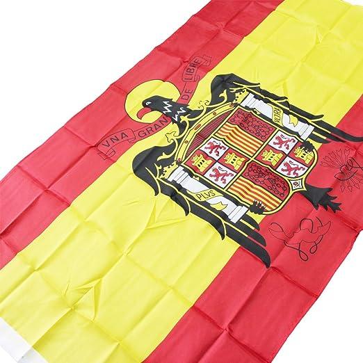 España Eagle poliéster banderas 3 Por 5 de pie una grande libre Nacional interior Out Door Banner Reino de España Bandera gallardete de Festival Guerra II: Amazon.es: Jardín