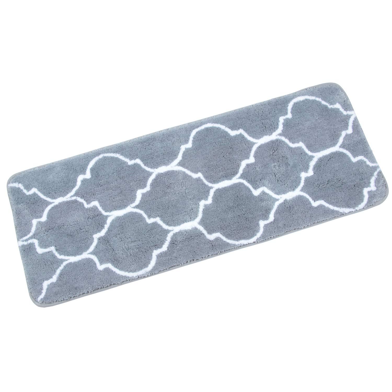 Homcomoda Microfiber Bathroom Shower Rug Geometric Bath Mats ...