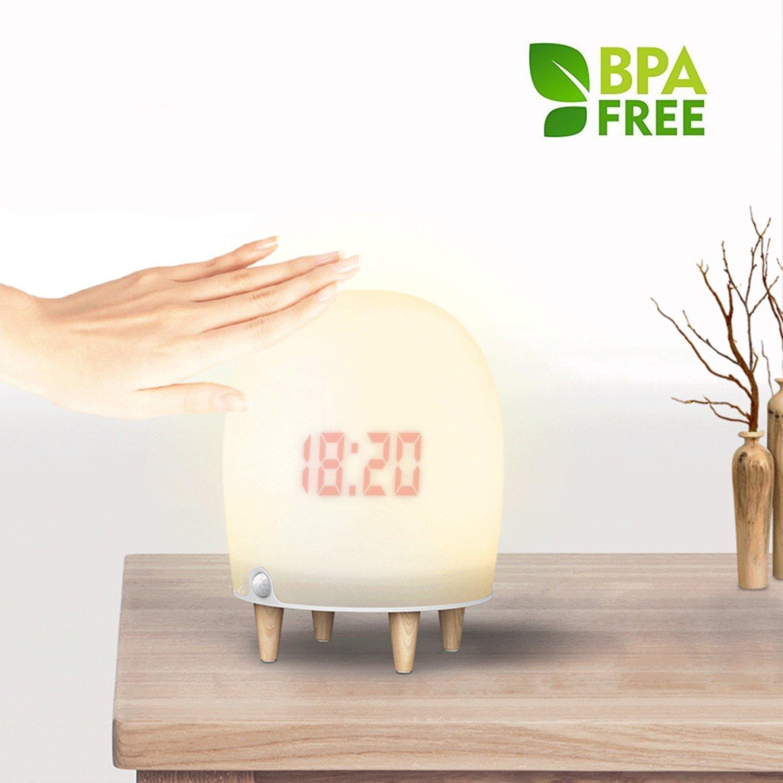 タブNight Light yiiyaa Besideランプマルチカラーのソフトシリコンタッチコントロール可愛いライト寝室リビングルームベビーNurseryランプ Big B078NS49D2   Big