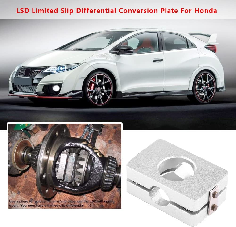 Qiilu Car LSD Limited Slip Differential Conversion Plate for Honda Civic 88-00 Acura CRX Integra 94-01