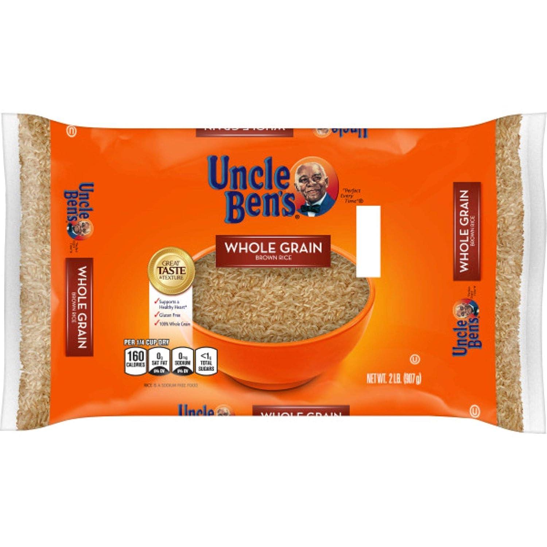 UNCLE BEN'S Whole Grain Brown Rice Bag, 2lb.