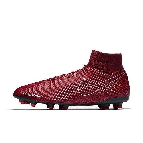 1f0c3a1712f Nike Men s Phantom VSN Club DF FG MG Team Red Black-Metallic Silver ...