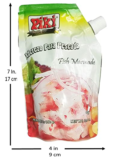 Amazon.com : Piki Aderezos Peruanos (Peruvian Marinated Seasonings) Doypack Bags (Aderezo de Pescado (Fish Marinade), Pack of 12) : Grocery & Gourmet Food