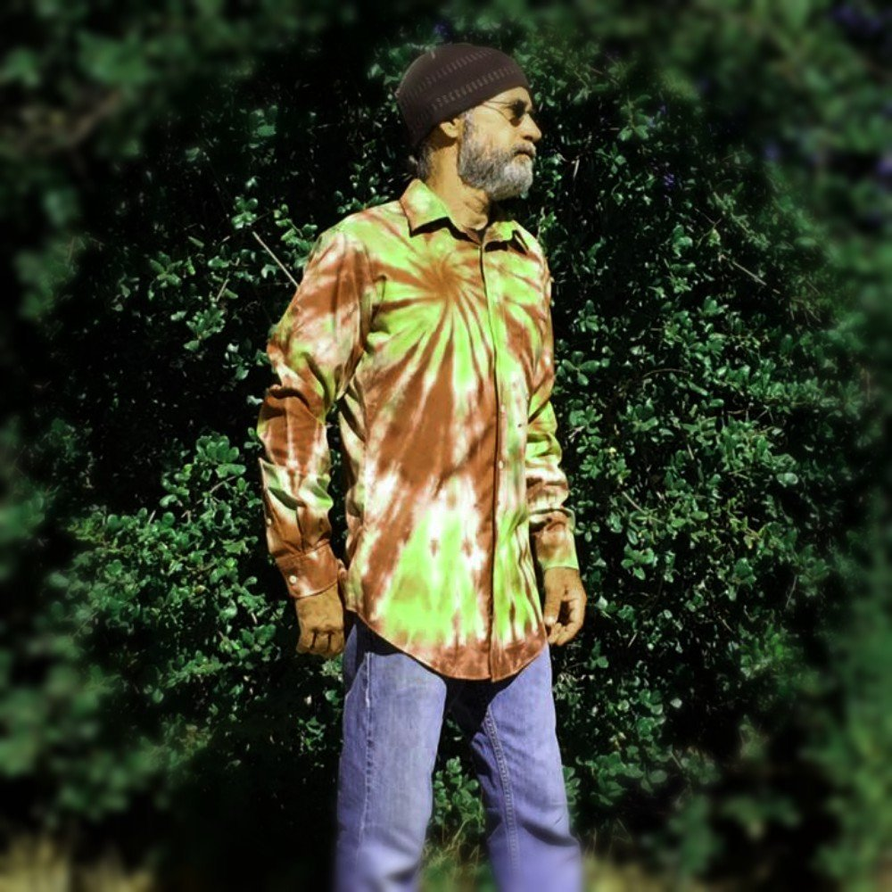 Brown Tie Dye Shirt, OOAK - M/L by Incense and Peppermints