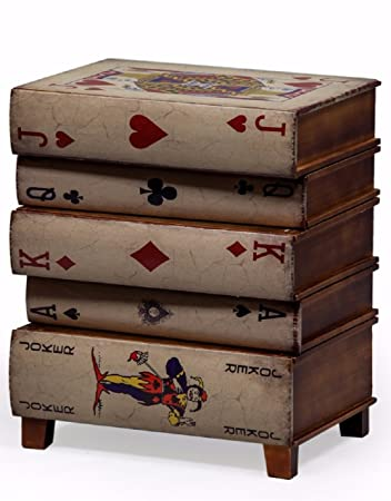 MGR Vintage Style Playing Card Side Cabinet Bedside Table Chest Drawers
