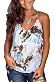 LACOZY Womens Summer V Neck Racerback Tank Tops Loose Flowy Sleeveless Shirts Blouses