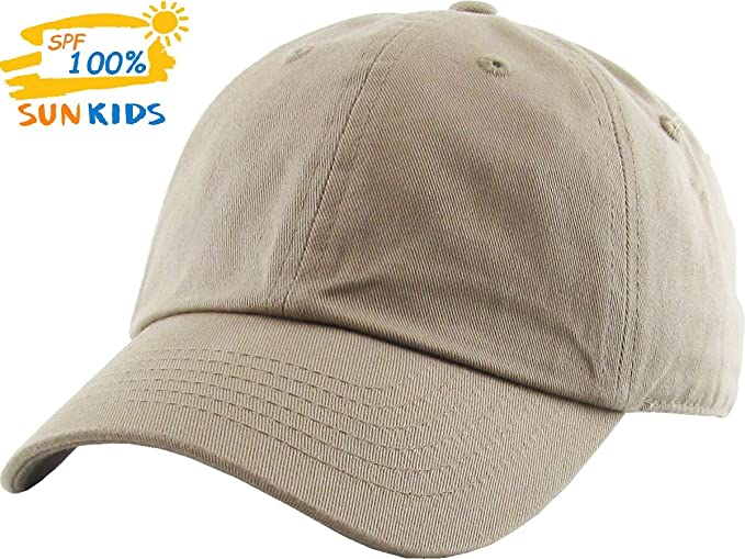 c2e9c0a68b4 KBC-Low KHK Kids Washed Low Profile Cotton Baseball Cap Adjustable Dad Hat (Classic