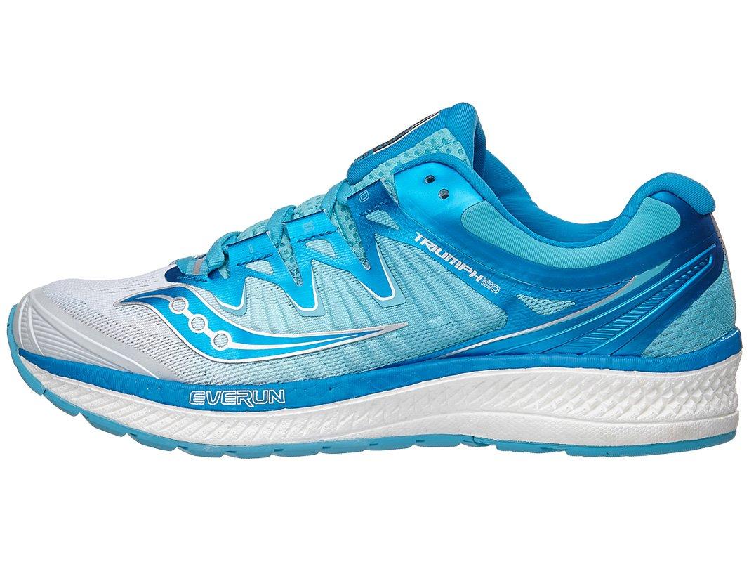 Saucony Women's Triumph Iso 4 Running Shoe B078PPKJW4 5 B(M) US|White/Blue