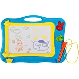 Aweoods Magnetic Kids Drawing Board Doodle Sketch Writing Board Learning Toys for Children's Gift(Blue)