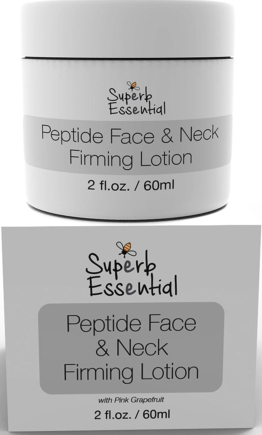 Peptide Face & Neck Firming Cream Lotion - Moisturizing - Smoothing - Fine Line Reducing - Vit 'B' Rich Royal Jelly Promotes Healthy Radiance - Start Getting Comments of How Much Younger You Look! Superb Essential Skin Care