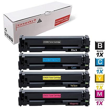 201 X tóner Set de 4 Pack compatible para CF400 X CF401 X CF402 X ...