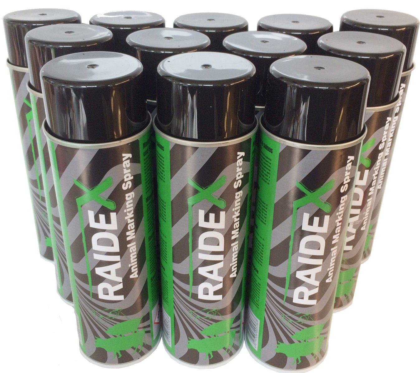 Raidex® Viehzeichenspray 12 x 400ml grün - Farbspray Markierungsspray - 12 Dosen Raidex GmbH