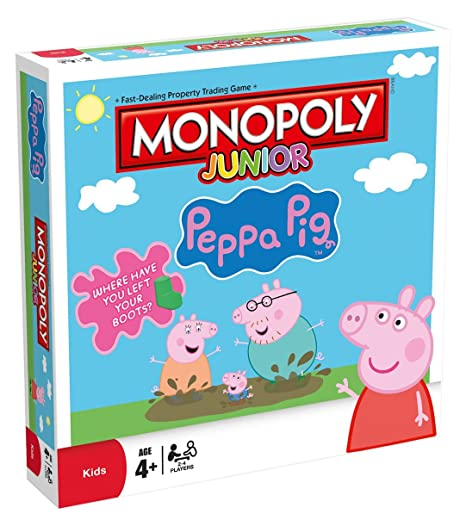 Amazon Com Peppa Pig Peppa Pig Jr Monopoly Board Game Toys Games