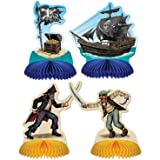 Pirate Playmates (4 ct) Honeycomb Centerpieces (4 per package)