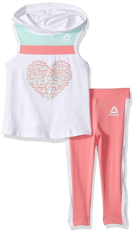 Reebok Girls Sleeveless All Heart Tank Top and Legging Set