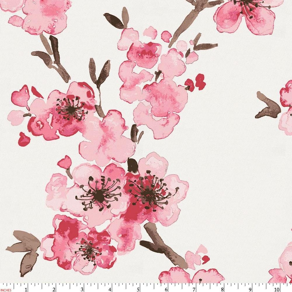 Amazon.com: Carousel Designs Pink Cherry Blossom Fabric by the ...