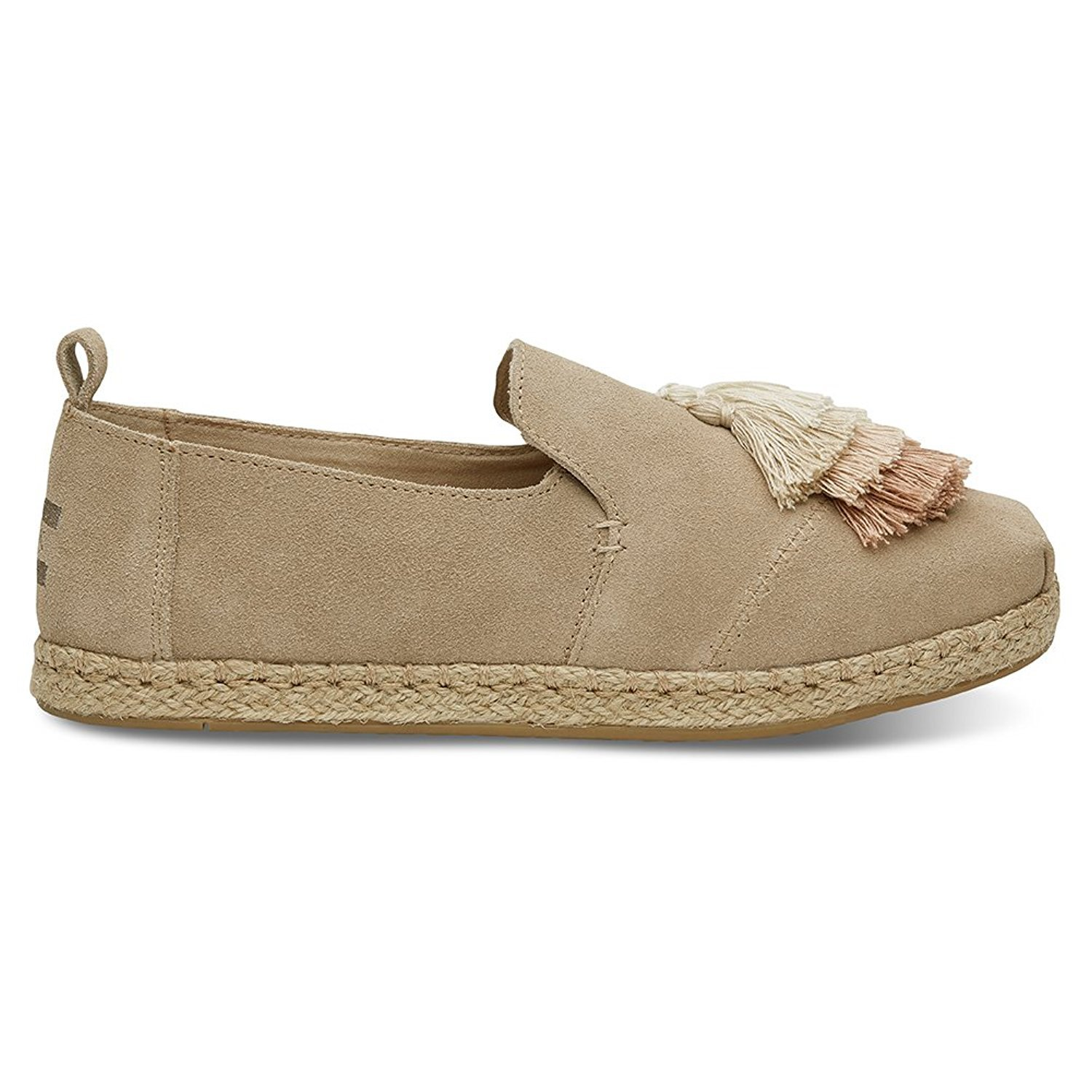 TOMS Women's Tassel Deconstructed Alpargata Shoe (11 B(M) US / 41-42 EUR, Oxford Tan Suede)