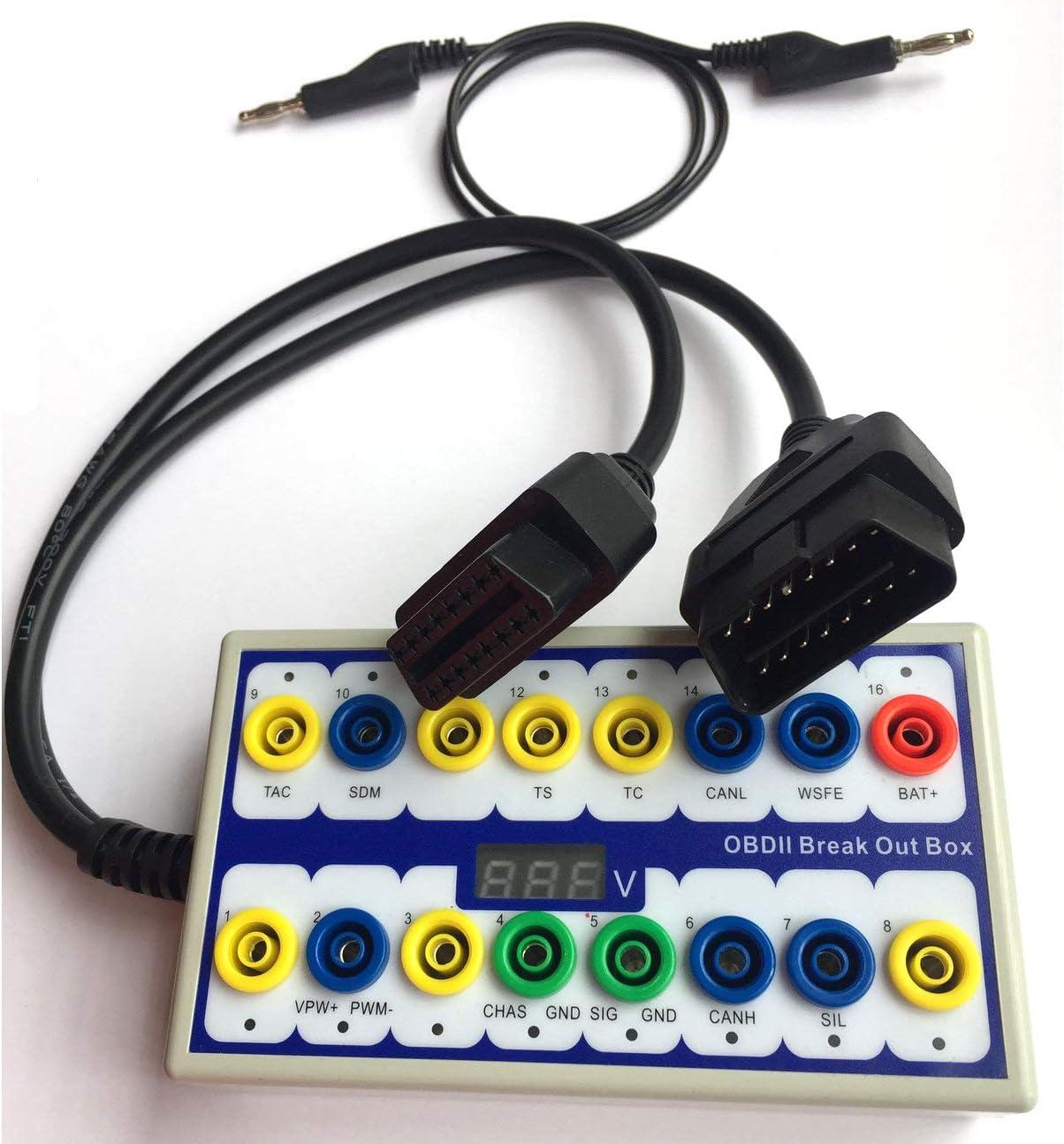 OBDII Detector de rotura de la caja de diagnóstico, herramienta de diagnóstico de señal de línea de datos CAN para coche, comprueba los voltajes y formas de onda en el osciloscopio.