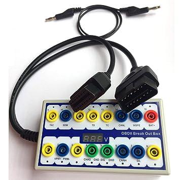 OBDII Detector de avería de diagnóstico, Auto vehículo Can línea de Datos Herramienta de diagnóstico, Comprobar voltajes y Formas de Onda en osciloscopio.