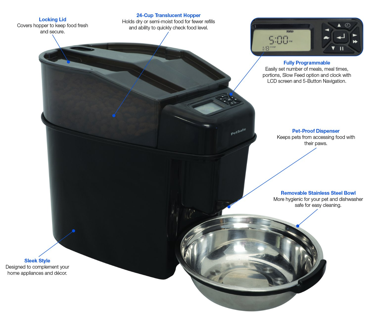 dp amazon feeder black dog pet programmable cat automatic homdox for dispenser timer middle sizepet com small big meal food