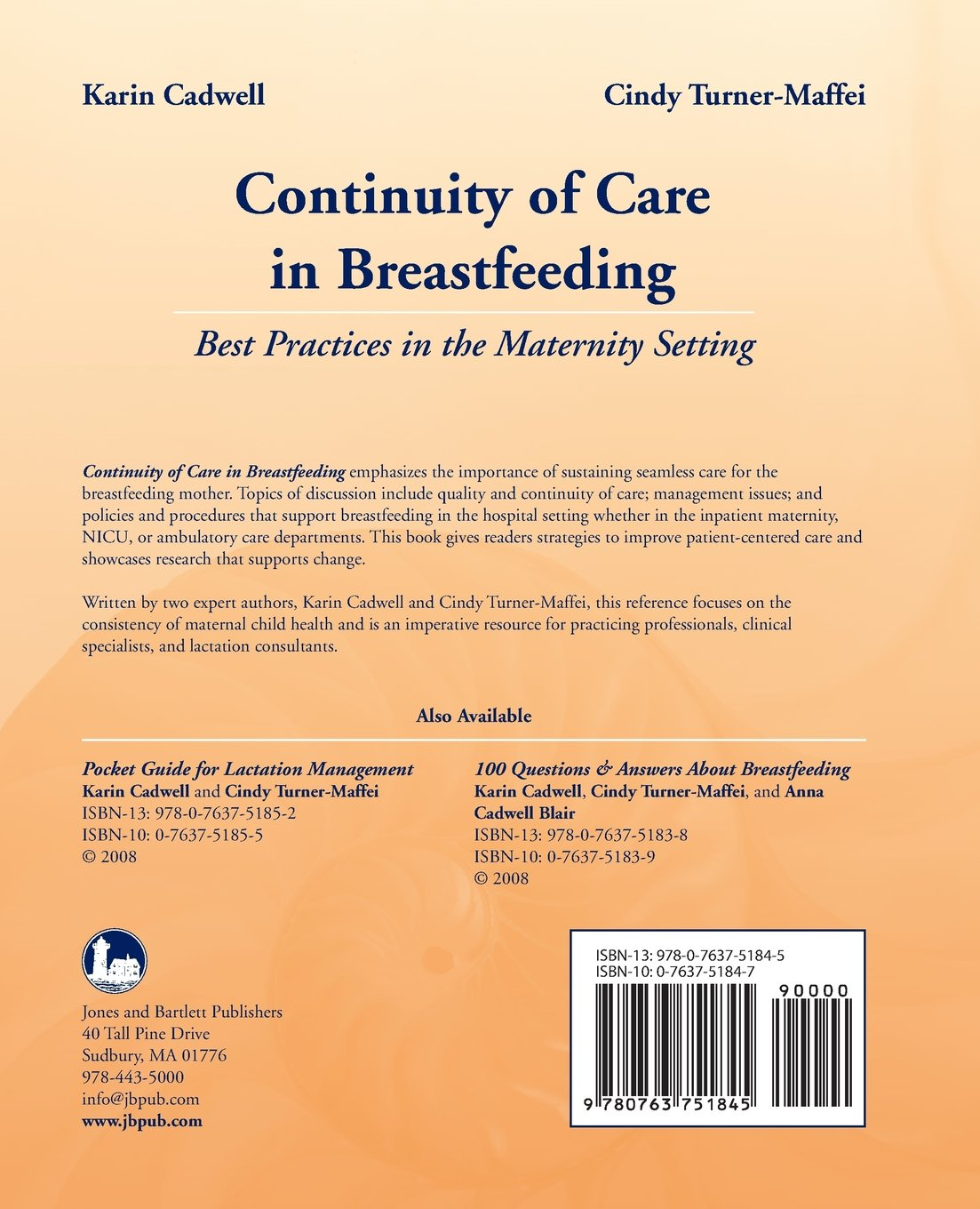 Continuity of Care in Breastfeeding: Best Practices in the Maternity Setting