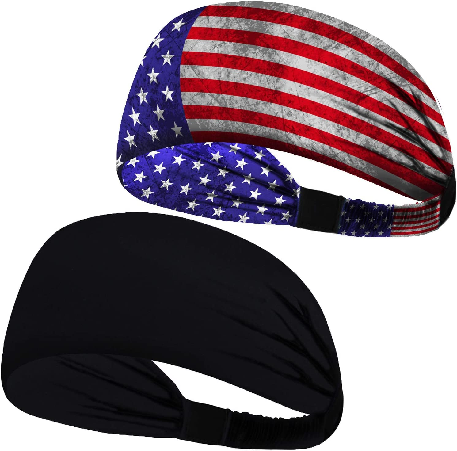 red white blue  Exercise Sport Gym Workout Yoga Running Women man THIN HEAD BAND