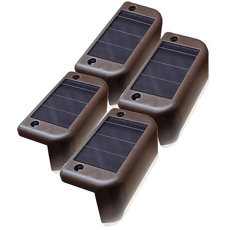 Amazon maxsa solar step deck railing lights 4 pack dusk maxsa solar step deck railing lights 4 pack dusk to dawn mozeypictures Images