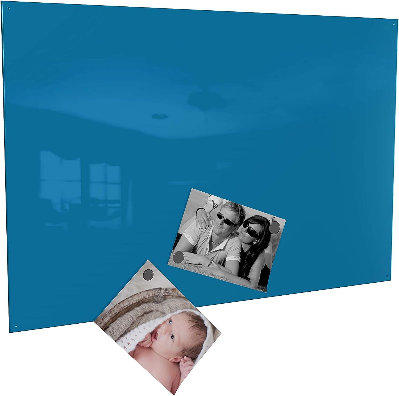 Weiss, 60 x 90 cm in 4 Verschiedene Gr/ö/ßen und 18 Magnete Colours-Manufaktur Magnettafel inkl