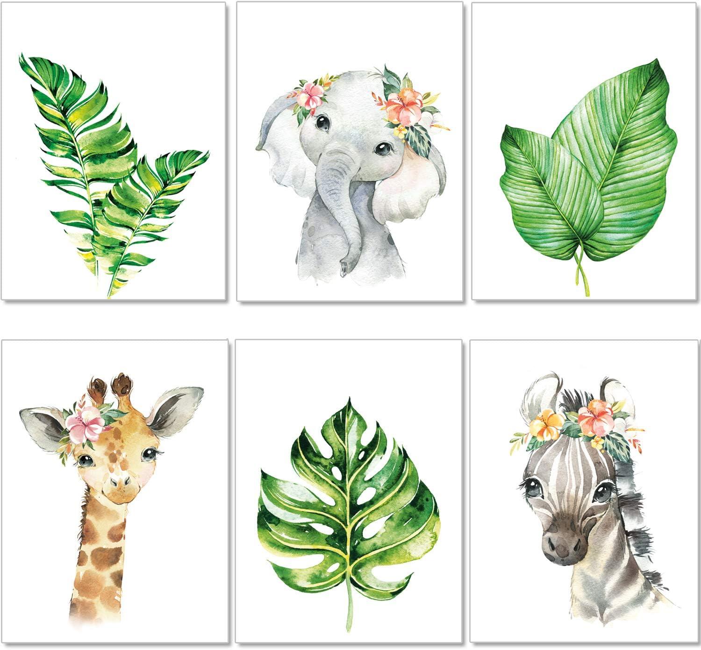 artpin® - Juego de 4 pósteres para habitación de niños – A4 imágenes para habitación de bebé – Decoración para niñas y niños P47