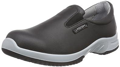PROTEQSicherheitsschuhe uni6 1741 Slipper S2 Küchengeeignet Stahlkappe - Zapatos de Seguridad Unisex Adulto, Color Negro, Talla 36