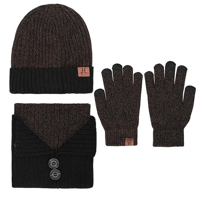 Bequemer Laden Cappello Beanie Invernale + Collo Sciarpa + Guanti  Touchscreen Set Caldo a Maglia per Uomo 3 Pezzi  Amazon.it  Abbigliamento 321350eb5242