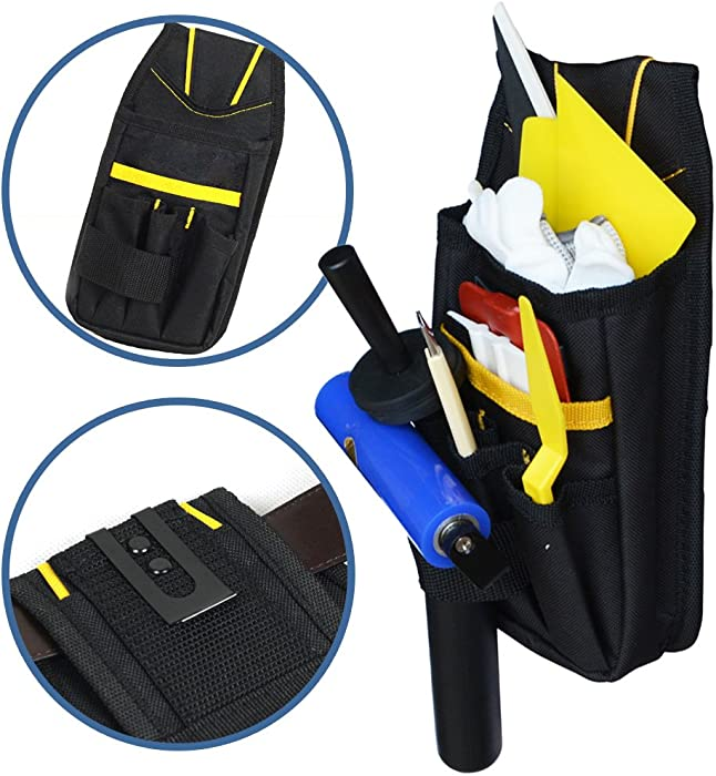 EHDIS Professional Multi-Purpose Tool Pouch Tool Holder Organizer Mini Work Organizer Heavy-Duty Small for Car Home Tint Window Film Worker
