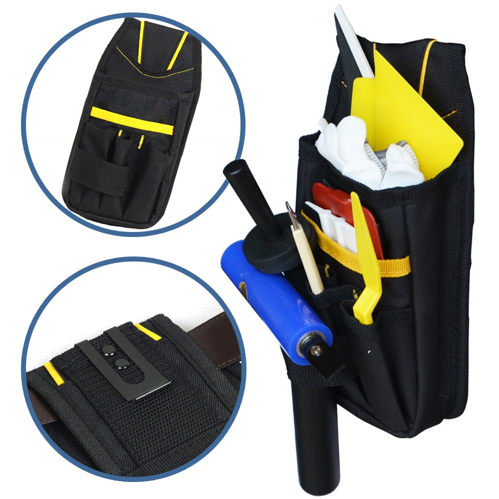 Ehdis Professional Multi-Purpose Tool Pouch Tool Holder Organizer Mini Work Organizer Heavy-duty Small for Car Home Tint Window Film Worker