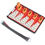 PG Parallel Charging Board Support 5 Packs of 2-6S XT60 RC LiPo Battery for FPV Racing Drone Quadcopter