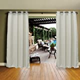 DREAM ART Outdoor Waterproof Patio Curtains Drapes Canopy Gazebo Privacy Shades/Blinds,Stripe, for Patio Porch Door…