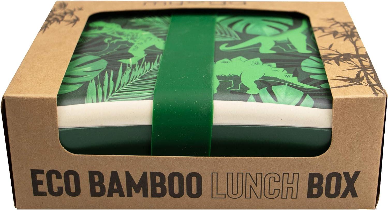 biodegradabile con cinturino in silicone senza BPA biologico in fibra di bamb/ù a prova di perdite Myga RY1171 Jurassic Jungle leggero Contenitore per il pranzo per adulti e bambini
