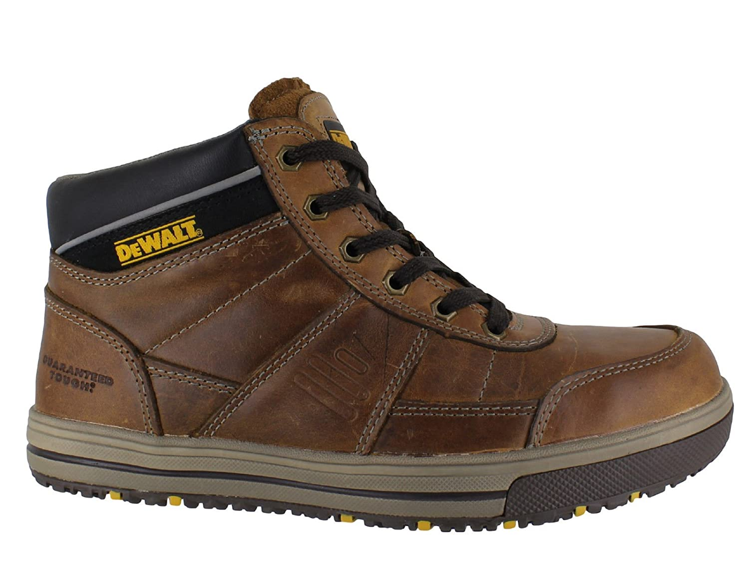 807f1336082d DEWALT Camden Mens Leather SB Steel Toe Lace up Work Boots Beige   Amazon.co.uk  Shoes   Bags