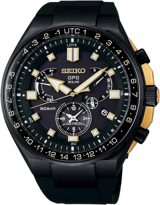 Seiko astron Reloj para Hombre Analógico de Solar con Brazalete de Silicona SSE174J1