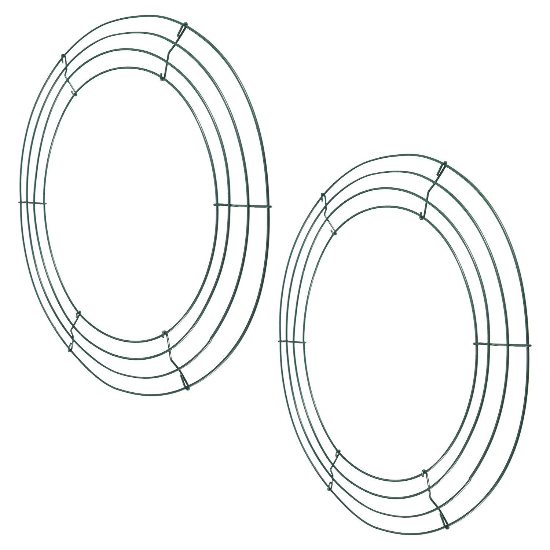 2 Packung Metalldraht Kranz Rahmen 14 Zoll Tiefgrünen Draht Ringe ...