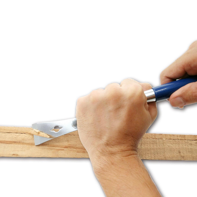 GOUGER Spreizer Putty Entferner Made in Taiwan Chili Werkzeuge Heavy Duty Edelstahl Mehrzweck 6/Maler-Werkzeug Holzgriff mit hammer-end f/ür Schaber