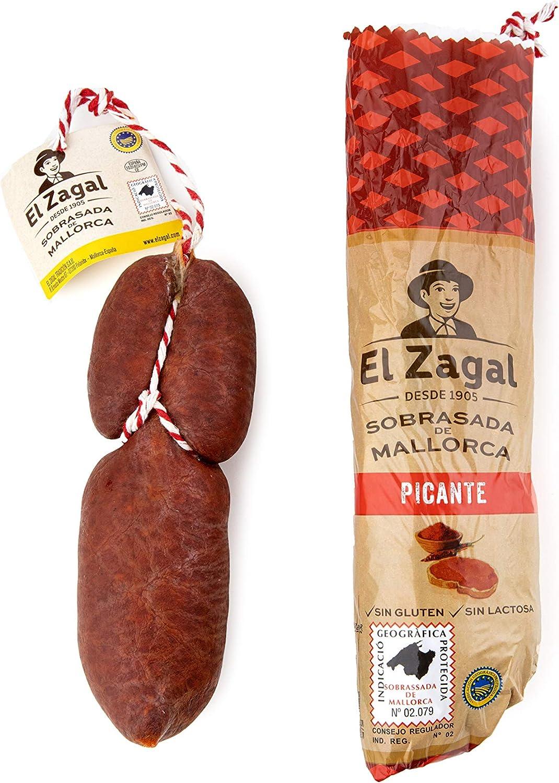 El Zagal Pieza De Sobrasada De Mallorca Tradicional Semi-Rizada (Piezas De <500 Gr. ) Picante 500 g