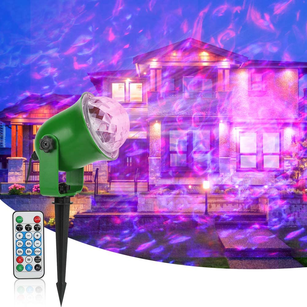 LED Light Projector,Syslux Flame Projector Lights,Waterproof Landscape Spotlights Decorative Outdoor Lighting with Remote Control, for Patio Decoration Christmas, Holiday, Party, Wedding, Garden