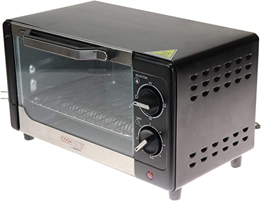 Black Quartz Heating Element 4 Slice Capacity Powerful 800W ETL Listed Superior Quality Cookmate Deluxe Toaster Oven By Unity